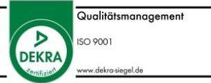 Zertifiziert nach ISO 9001   Qualitätsmanagement