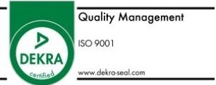 Certified according to ISO 9001 | Quality Management