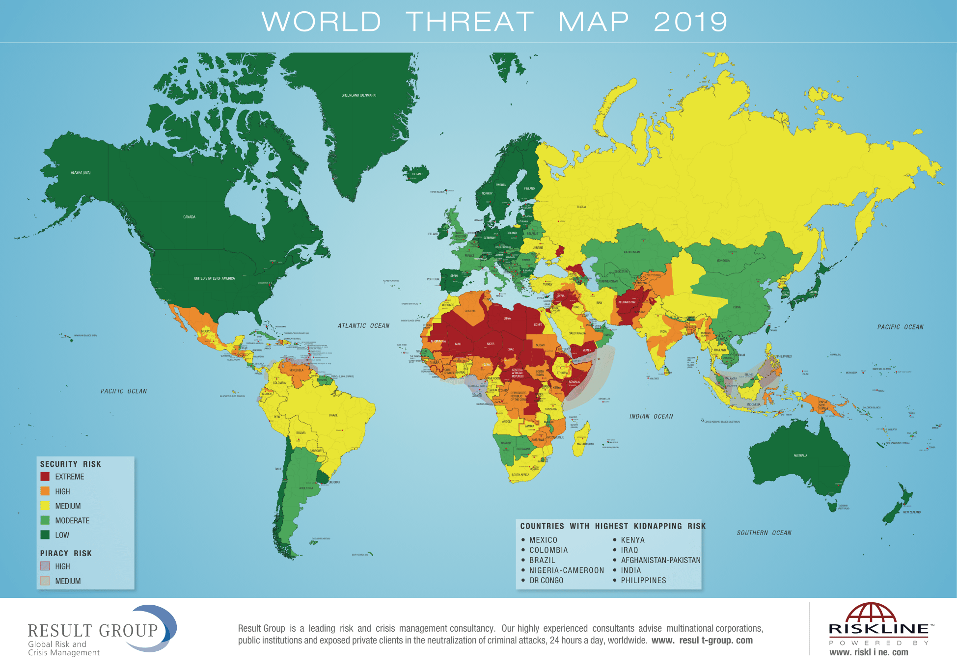 World Threat Map 2019 – Bedrohungskarte - Result Group GmbH